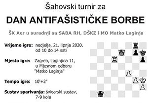 Šahovski turnir za DAN ANTIFAŠISTIČKE BORBE 2020.